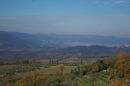 Cozy appartment 15 min from Siena on the hills - Poggio Lodoli