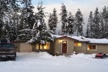 Cozy cabin 5 acres by Priest lake - Rumah