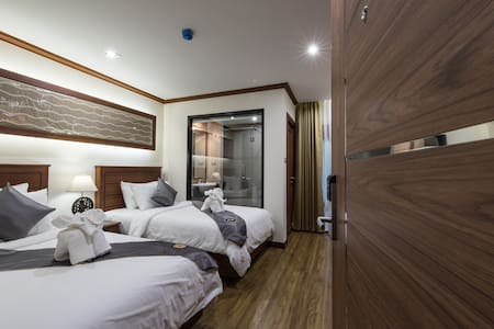Comfortable Deluxe twin beds with breakfast - Penzion (B&B)