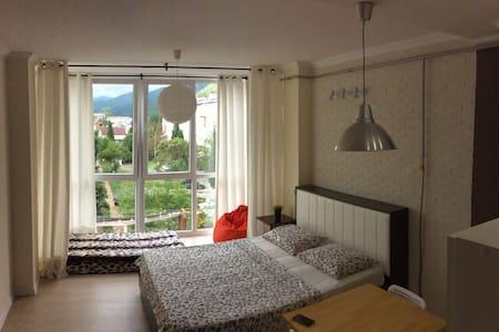 Уютная студия у моря с кухней и видом на горы. - Appartamento
