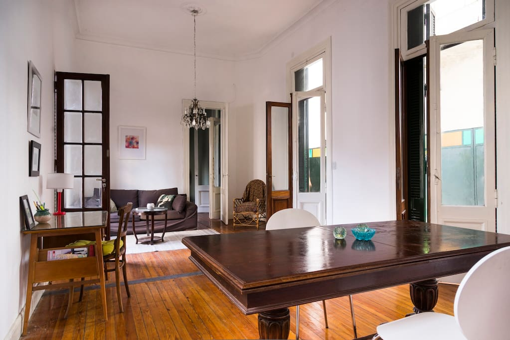 Meghan has a room for rent in her beautiful San Telmo apartment.