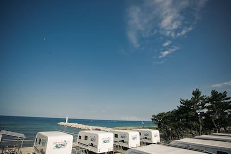 씨카라반-강릉경포 카라반파크 파도소리,일출,동해바다(카라반800) - Camper