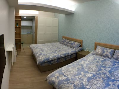 2 double beds 捷運信義安和站走路8分鐘~近101