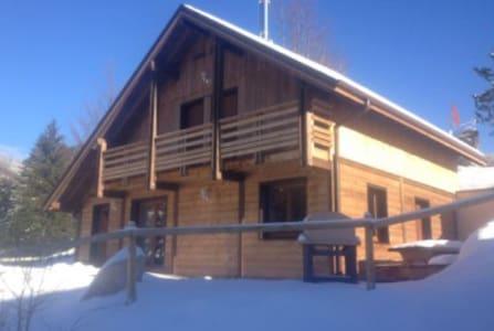 chalet haut de gamme avec spa et sauna - La Bresse - Dağ Evi