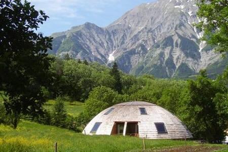 chambres d'hotes dans maison écologique rotative - Saint-Firmin - Rumah Tamu