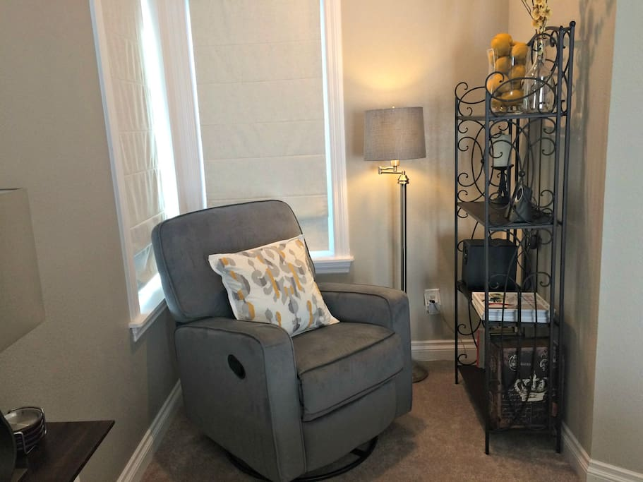 Reading nook with stereo system