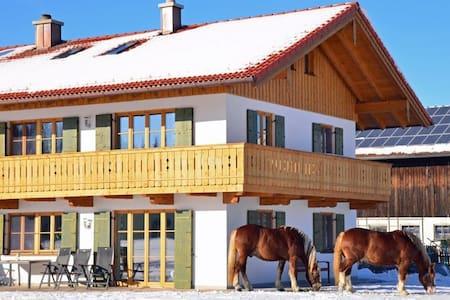 Urlaub auf dem Langerhof-Seeblick - Bad Heilbrunn - Apartemen