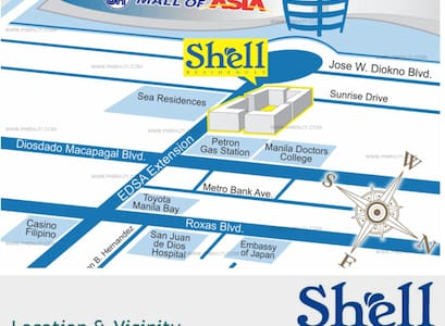 New Cozy space in Shell Residences near MOA - Pasay - Lyxvåning