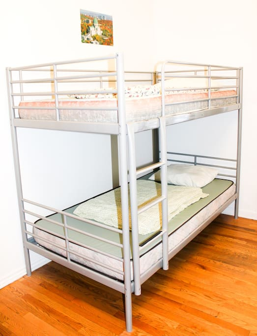 Comfortable and clean mattresses; linens included.