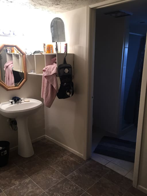 Full private bathroom downstairs