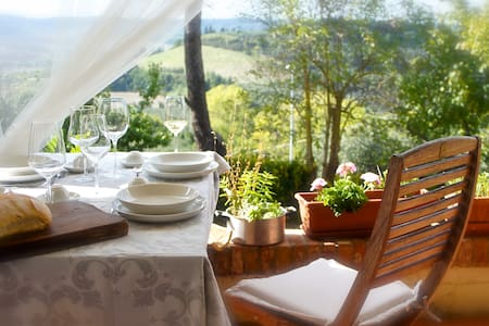 Casa Sole with his wonderful view  - Morrona