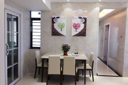 Cosy flat 3 bedrooms on 48F Near Shenzhen North ST - Shenzhen - Casa