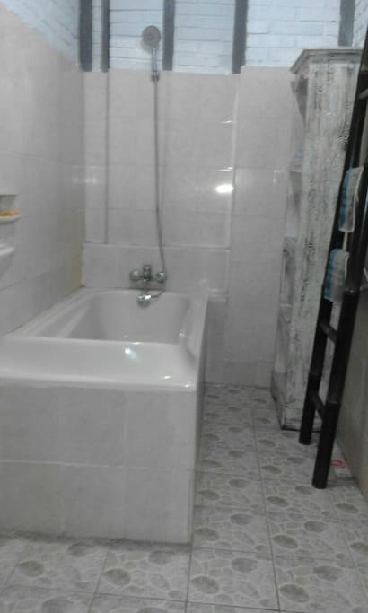 Your bath tub and or shower.