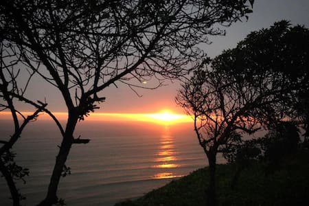 One block from the 'costa verde' (the cliffs on the ocean). Located in the heart of Miraflores, whether you're looking for a decent nightlife scene or a nice place to relax and brush up on your Spanish until your next trip, you're welcome with us.