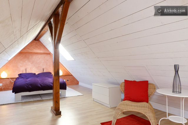 Super room in our house attics in Bavois