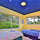 This is the Galaxy Room with a luminous ceiling, it is very private with views of trees and birdlife.