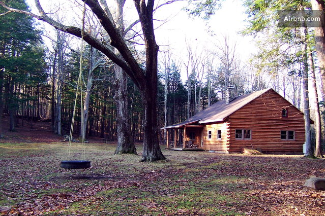 Catskills secluded log cabin in cornwallville for Cabins in the catskills