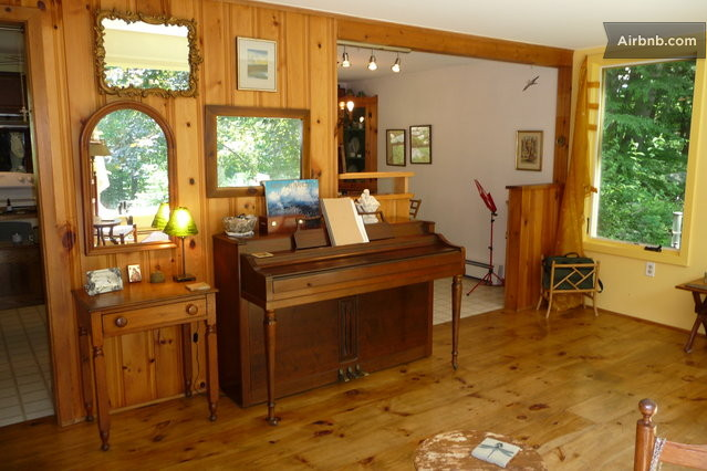 Chic Loft-like cabin on 5 1/2 acres in Sharon